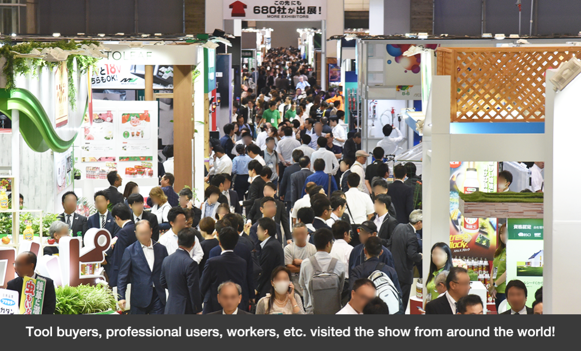Tool buyers, professional users, workers, etc. visited the show from around the world!